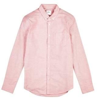 Mens Big & Tall Long Sleeve Pink Oxford Shirt