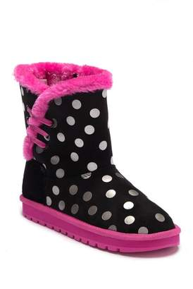 Skechers Keepsakes Dot-Tastic Faux Fur Lined Boot (Little Kid & Big Kid)