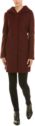 Cole Haan Textured Wool-Blend Coat