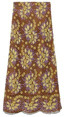 Lily Brown (リリー ブラウン) - リリーブラウン お花レースロングスカート