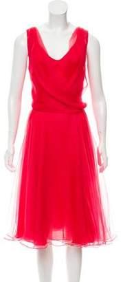 Oscar de la Renta Chiffon Midi Dress w/ Tags
