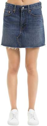 Levi's Deconstructed Cotton Denim Skirt