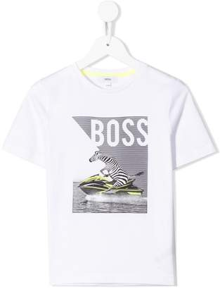 HUGO BOSS graphic logo T-shirt