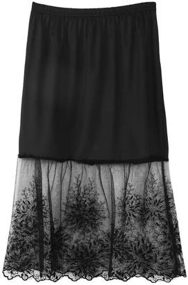 b2f7ad3cabd1 Sample9 Lace Half Slip Skirts Extender Elastic Waist A-line Hollow  Petticoat Underskirt