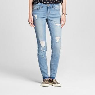 Dollhouse Women's Destructed Released Hem Skinny Jeans - Dollhouse (Juniors') $34.99 thestylecure.com