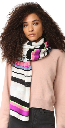 White + Warren Cashmere Striped Travel Wrap Scarf $330 thestylecure.com