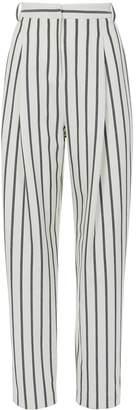 Tibi Lucci Stripe Sculpted Pleat Pants