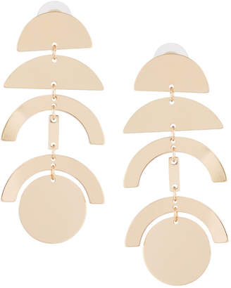 Panacea Geometric Linear Drop Earrings