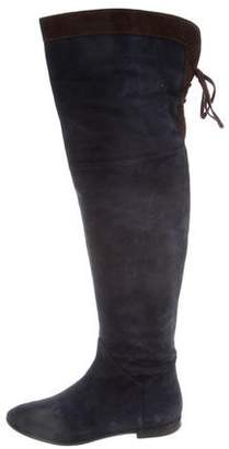 Bettye Muller Suede Over-The-Knee Boots