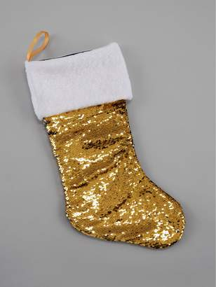 Gisela Graham Gold Sequin Colour Changing Stocking