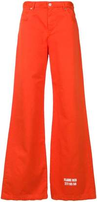 MSGM chromotherapy detail trousers