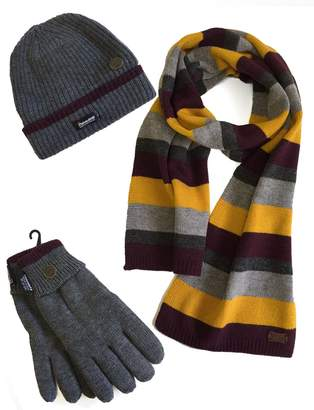 VEDONEIRE Mens Hat Scarf Gloves Set winter warm christmas gift ( Fits All)