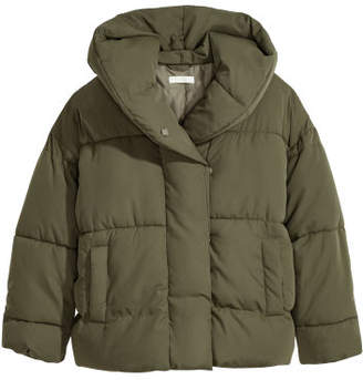 H&M Padded Jacket with Hood - Green