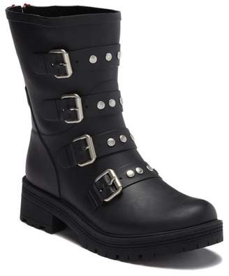 7418328965b Steve Madden Leather Rubber Women s Boots - ShopStyle