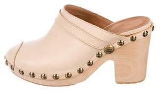 Chanel Round-Toe CC Clogs