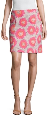 Margo Floral Embroidered Pencil Skirt
