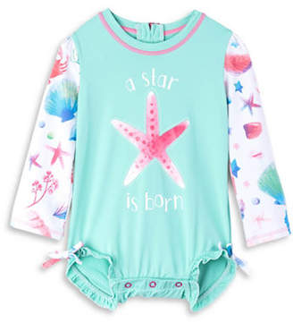 Hatley Starfish-Print Mini Rash Guard Swimsuit