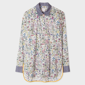 Women's Floral Cotton Shirt With 'Bee' Cuff Linings $350 thestylecure.com