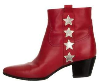 Saint Laurent Star Ankle Boots Star Ankle Boots