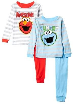 AME Elmo & Cookie Monster Cotton PJs - Set of 2 (Toddler Boys)