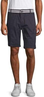 ProjekRaw Striped-Waist Cargo Shorts