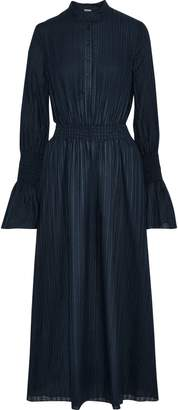 ADAM by Adam Lippes Shirred Textured Cotton-voile Midi Dress