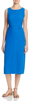Eileen Fisher Tie-Waist Silk Dress $378 thestylecure.com