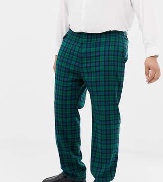 Asos DESIGN Plus wedding skinny suit pants in blackwatch plaid