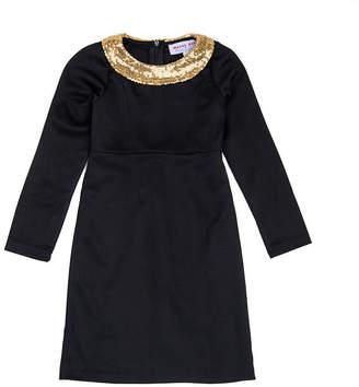 MAYAH KAY FASHION Mayah Kay Fashion Sequin-Collar Sheath Dress