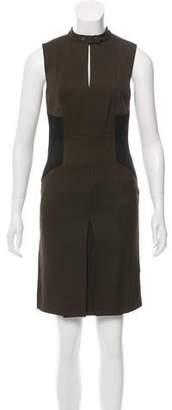 Belstaff Leather-Paneled Mini Dress