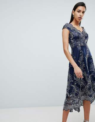 Bardot City Goddess Lace Midi Dress
