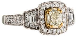 Ring 18K Bi-Color Diamond Engagement
