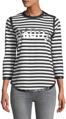 Zadig & Voltaire Woody Raye Striped Amour Tee
