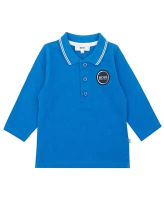 HUGO BOSS Kids New Logo Long Sleeved Polo