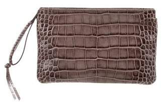 Givenchy Embossed Croc Wristlet