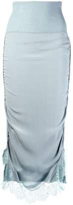 Stella McCartney lace trim knitted skirt
