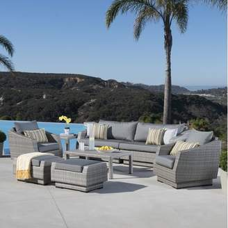 Wade Logan Castelli 8 Piece Rattan Sofa Seating Group with Cushions