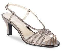 Caparros Niche Metallic Strappy Slingback Heels