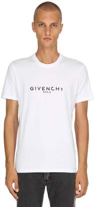 Givenchy Logo Crewneck Cotton Jersey T-Shirt