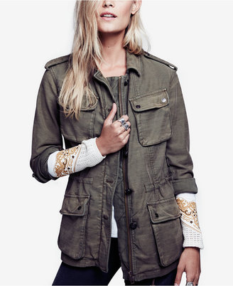 Free People Not Your Bros Camo-Print Military Jacket $148 thestylecure.com