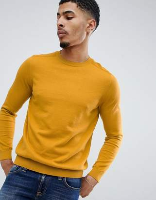 New Look sweater with crew neck in mustard