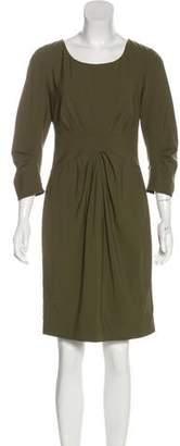 Lafayette 148 Knee-Length Tropical Wool Dress