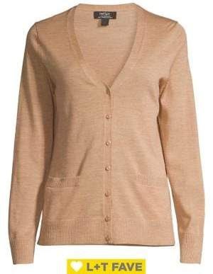 Lord & Taylor V-Neck Button Cardigan