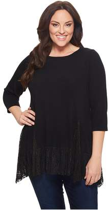 Karen Kane Plus Plus Size Lace Inset Sweater Women's Sweater