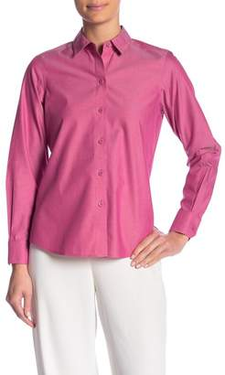 Foxcroft Diane Long Sleeve Shaped Blouse