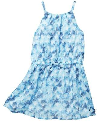 Nautica Shell Print Chiffon Dress (Toddler Girls)