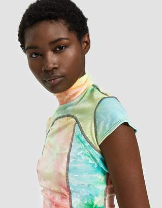 Eckhaus Latta Velour Sport Tee in Candy Crush