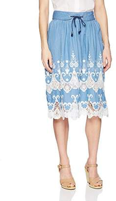 Desigual Women's Blues Explosion Knee Length Skirt
