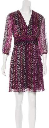 Diane von Furstenberg Printed Silk-Blend Dress
