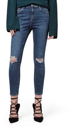 Topshop PETITE MOTO Ripped Jamie Jeans 28 Inch Leg